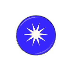 Deep Blue And White Star Golf Ball Marker 4 Pack (for Hat Clip)