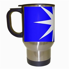 Deep Blue And White Star Travel Mug (White)