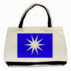 Deep Blue And White Star Classic Tote Bag
