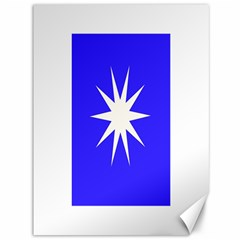 Deep Blue And White Star Canvas 36  X 48  (unframed)