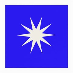 Deep Blue And White Star Glasses Cloth (Medium, Two Sided)