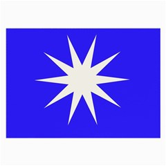 Deep Blue And White Star Glasses Cloth (Large)