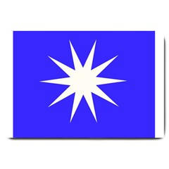 Deep Blue And White Star Large Door Mat