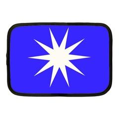 Deep Blue And White Star Netbook Sleeve (Medium)