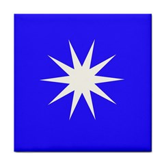 Deep Blue And White Star Face Towel