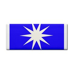 Deep Blue And White Star Hand Towel