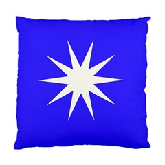 Deep Blue And White Star Cushion Case (Two Sided)