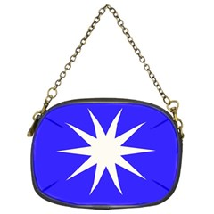 Deep Blue And White Star Chain Purse (Two Sided)