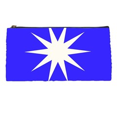 Deep Blue And White Star Pencil Case