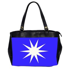 Deep Blue And White Star Oversize Office Handbag (Two Sides)
