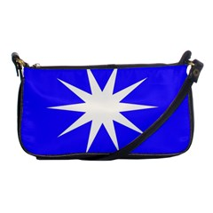 Deep Blue And White Star Evening Bag