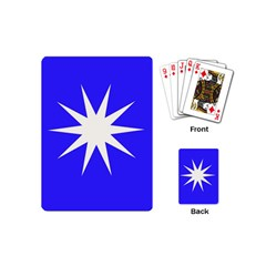 Deep Blue And White Star Playing Cards (mini)