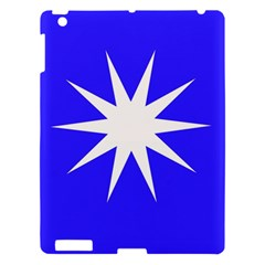 Deep Blue And White Star Apple iPad 3/4 Hardshell Case