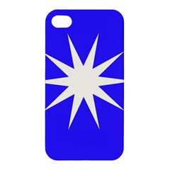 Deep Blue And White Star Apple iPhone 4/4S Premium Hardshell Case