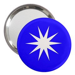 Deep Blue And White Star 3  Handbag Mirror