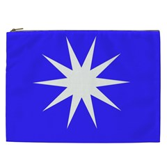 Deep Blue And White Star Cosmetic Bag (XXL)
