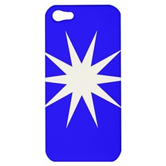 Deep Blue And White Star Apple iPhone 5 Hardshell Case