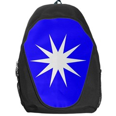Deep Blue And White Star Backpack Bag