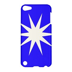 Deep Blue And White Star Apple iPod Touch 5 Hardshell Case