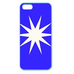 Deep Blue And White Star Apple Seamless iPhone 5 Case (Color)