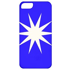Deep Blue And White Star Apple Iphone 5 Classic Hardshell Case