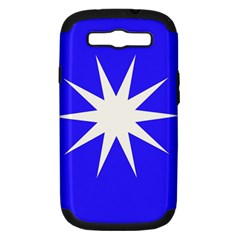 Deep Blue And White Star Samsung Galaxy S III Hardshell Case (PC+Silicone)