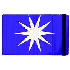 Deep Blue And White Star Apple iPad 2 Flip Case