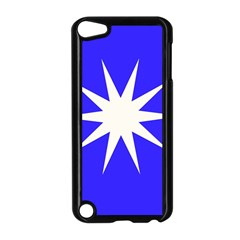 Deep Blue And White Star Apple Ipod Touch 5 Case (black)