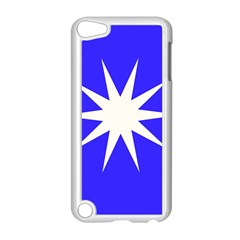 Deep Blue And White Star Apple iPod Touch 5 Case (White)
