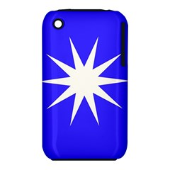 Deep Blue And White Star Apple iPhone 3G/3GS Hardshell Case (PC+Silicone)