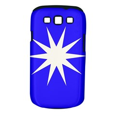 Deep Blue And White Star Samsung Galaxy S III Classic Hardshell Case (PC+Silicone)