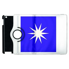 Deep Blue And White Star Apple iPad 2 Flip 360 Case