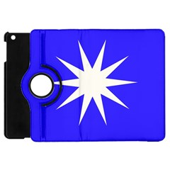 Deep Blue And White Star Apple iPad Mini Flip 360 Case