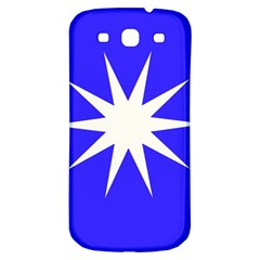 Deep Blue And White Star Samsung Galaxy S3 S Iii Classic Hardshell Back Case