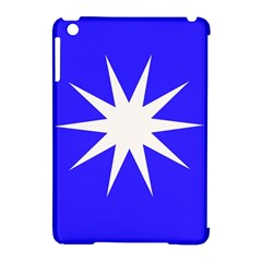 Deep Blue And White Star Apple iPad Mini Hardshell Case (Compatible with Smart Cover)