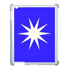 Deep Blue And White Star Apple iPad 3/4 Case (White)