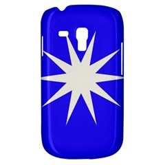 Deep Blue And White Star Samsung Galaxy S3 MINI I8190 Hardshell Case