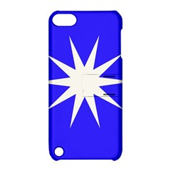 Deep Blue And White Star Apple iPod Touch 5 Hardshell Case with Stand