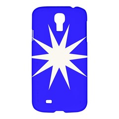 Deep Blue And White Star Samsung Galaxy S4 I9500/i9505 Hardshell Case