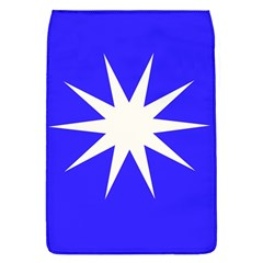 Deep Blue And White Star Removable Flap Cover (large)