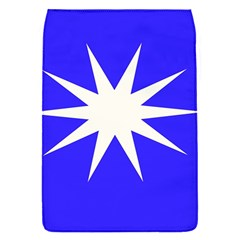 Deep Blue And White Star Removable Flap Cover (small)