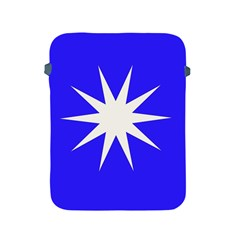 Deep Blue And White Star Apple iPad Protective Sleeve