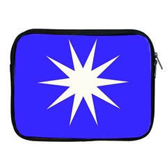 Deep Blue And White Star Apple iPad Zippered Sleeve