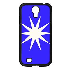 Deep Blue And White Star Samsung Galaxy S4 I9500/ I9505 Case (black)
