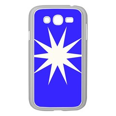 Deep Blue And White Star Samsung Galaxy Grand Duos I9082 Case (white)