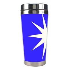 Deep Blue And White Star Stainless Steel Travel Tumbler
