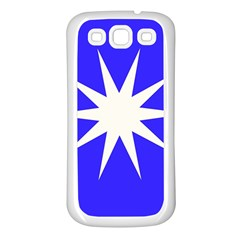 Deep Blue And White Star Samsung Galaxy S3 Back Case (white)