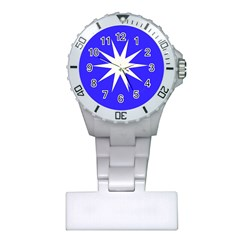Deep Blue And White Star Nurses Watch