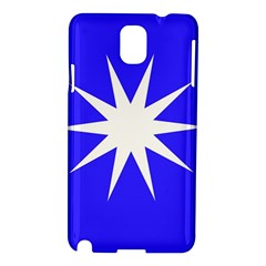 Deep Blue And White Star Samsung Galaxy Note 3 N9005 Hardshell Case