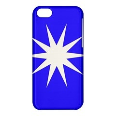 Deep Blue And White Star Apple iPhone 5C Hardshell Case